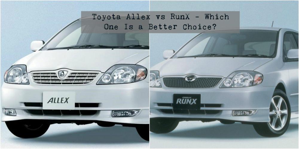 medium resolution of toyota allex vs runx