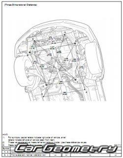 Геометрические размеры Toyota Camry с 2007 кузова ACV40 и