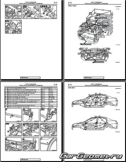 Кузовные размеры Mitsubishi Galant IX 2004-2012 (включая