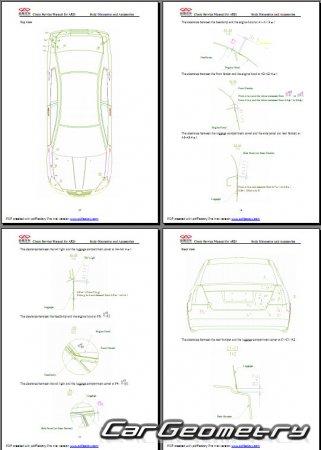 Кузовные размеры Chery A5 (Chery Fora, Chery Elara)