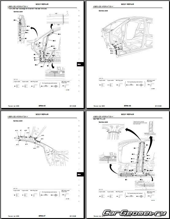 Кузовные размеры Infiniti QX56 2004–2010 кузов (JA60)
