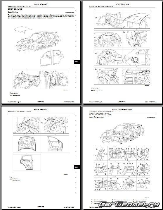 Кузовные размеры Infiniti FX35/FX37/FX50 2009-2013 кузов (S51)