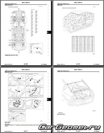 Кузовные размеры Infiniti M35, M45 (Nissan Fuga) 2008-2010