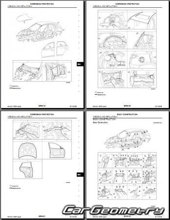 Кузовные размеры Infiniti EX (J50) и Nissan Skyline