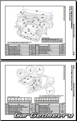 Размеры кузова Lexus ES 300 (XV30) / Toyota Windom (МCV30