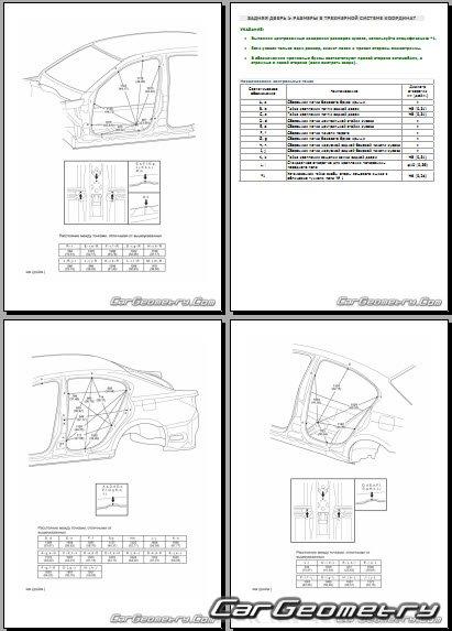 Контрольные размеры Lexus GS 450h с 2012 (GWL10) Collision