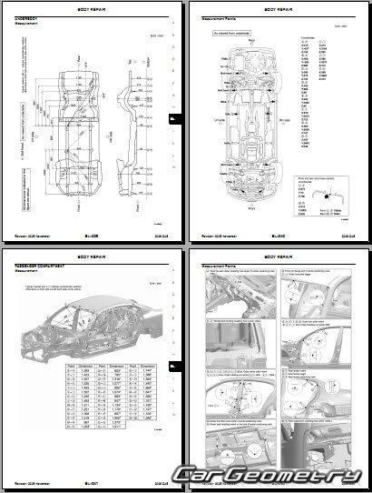 Размеры кузова Infiniti Q45 2002–2006 и Nissan Cima кузов