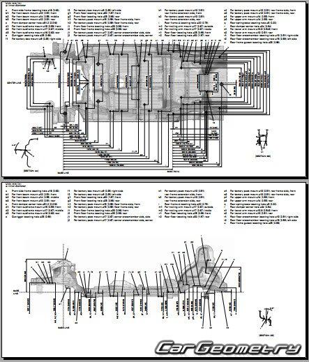 Размеры кузова Honda Fit EV с 2013 Body Repair Manual