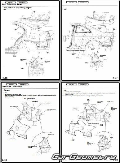 Кузовные размеры Honda Civic 2001-2005 (Sedan, Coupe) Body