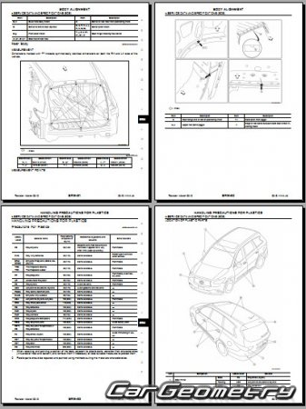 Размеры кузова Infiniti JX35 с 2013 кузов (L50)