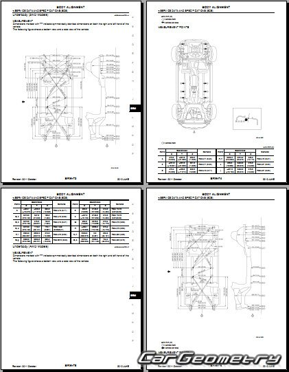 Размеры кузова Nissan Juke (YF15) 2010-2017 Body Repair Manual