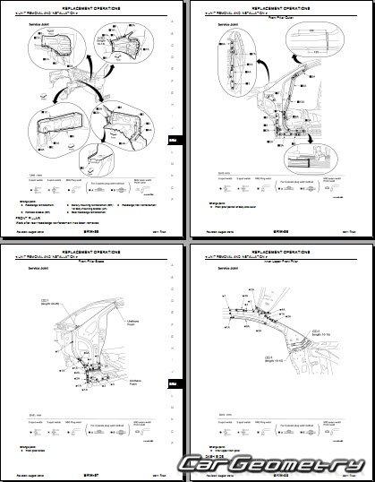 Геометрические размеры кузова Nissan Titan (A60) 2004-2014