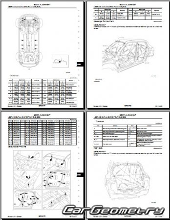Размеры кузова Nissan Juke (YF15) 2010-2017 Body Repair Manual