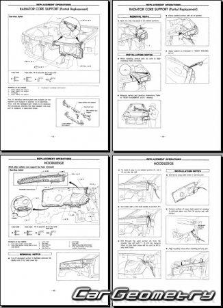 Геометрические размеры кузова Nissan Avenir (W10) 1990