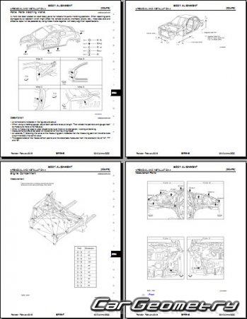 Кузовные размеры Nissan Altima (L32) 2006-2012 (Sedan