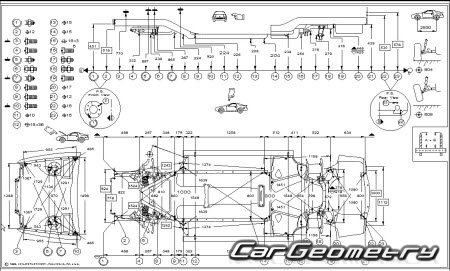Кузовные размеры BMW 5 Series (E39) 1996-2003 Sedan и Touring