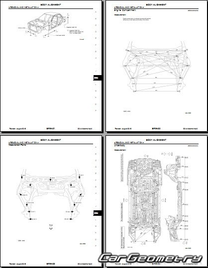 Кузовные размеры Nissan Maxima (A35) 2009-2014 Body Repair