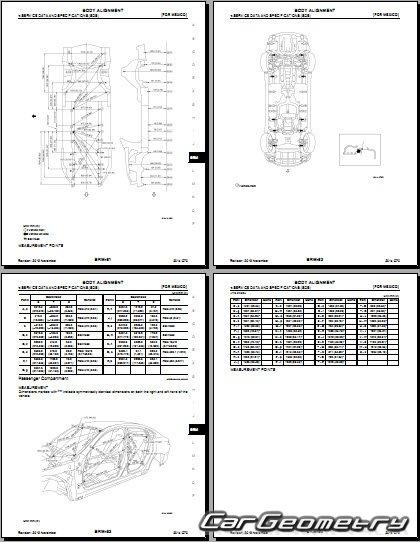 Кузовные размеры Infiniti Q70 и Nissan Fuga (Y51) Body