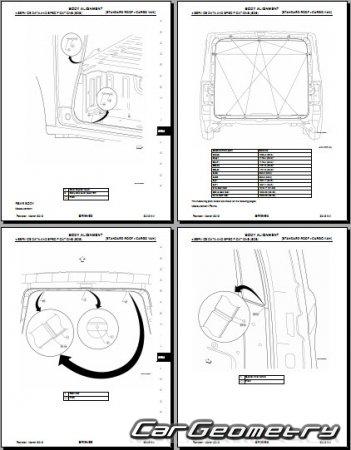 Кузовные размеры Nissan NV1500 NV2500 NV3500 (F80) 2011