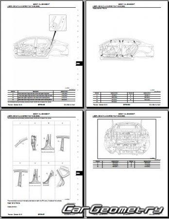 Кузовные размеры Nissan Sentra (B17) 2013-2018 Body Repair