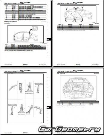 Кузовные размеры Nissan Versa Sedan (N17) 2012-2018 Body