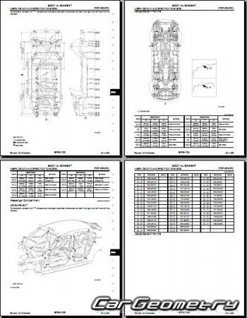 Кузовные размеры Infiniti Q50 (V37) с 2013 (2WD и AWD
