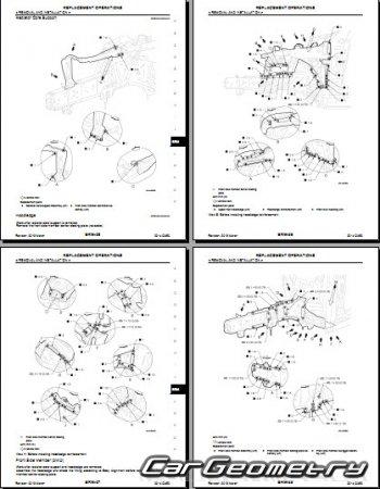 Кузовные размеры Infiniti QX50 (J50) с 2013 Body Repair Manual