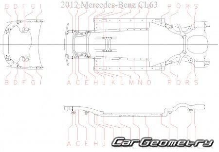 Кузовные размеры Mercedes CL-Class (C216) 2006-2012 Coupe