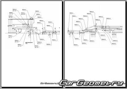 Кузовные размеры Honda FR-V (BE) 2004-2010 Body dimensions