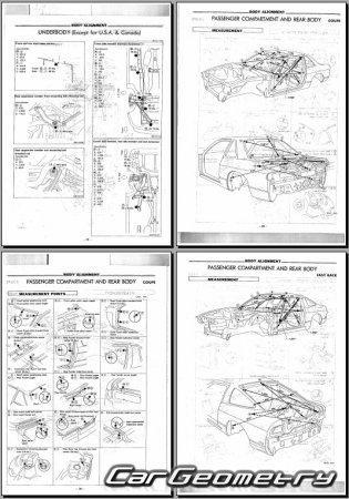 Кузовные размеры Nissan 180SX 200SX 240SX Silvia (S13