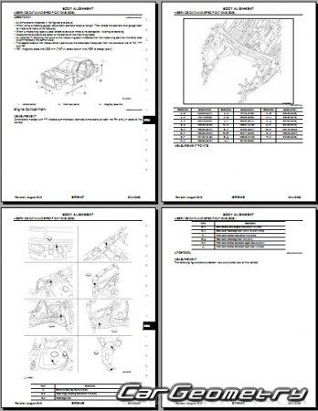 Кузовные размеры Infiniti QX60 (L50) 2014-2018 Body Repair