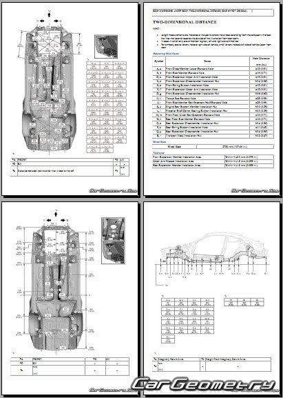 Кузовные размеры Lexus RC F (USC10) с 2015 Collision