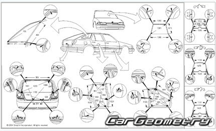 Кузовные размеры Lexus IS 300 SportCross 2001–2005 (GXE10