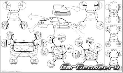 Размеры кузова Lexus IS350 IS250 IS220d 2005–2012 (GSE20