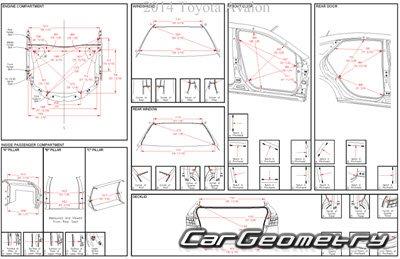 Кузовные размеры Toyota Avalon (GSX40) 2013-2015 Collision