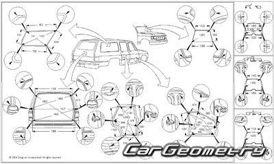 Кузовные размеры Toyota 4Runner (Hilux Surf) 1996-2002