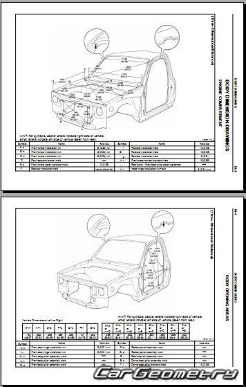 Кузовные размеры Toyota Tacoma (Xtra Cab, Regular Cab