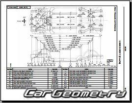 Кузовные размеры Toyota Paseo (EL44) 1992-1995 Collision
