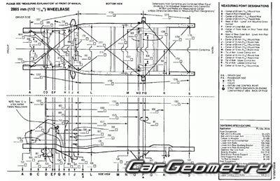 Кузовные размеры Toyota Previa 1991-1999 (TCR10, TCR11