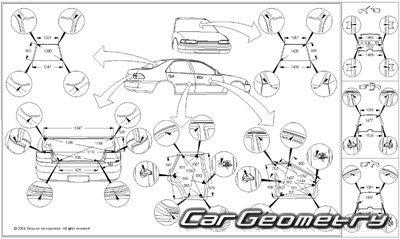 Кузовные размеры Toyota Corolla (ZZE110) 1998-2002