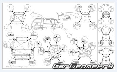 Геометрические размеры кузова Acura SLX, Isuzu Trooper