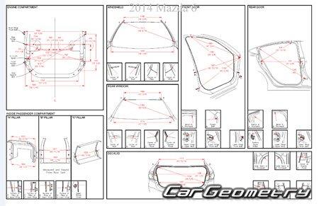 Геометрические размеры Mazda 6 Sedan 2013-2018 Третье