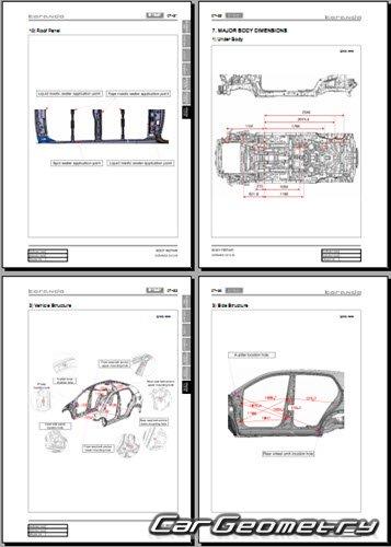 Кузовные размеры SsangYong Actyon 2011-2017