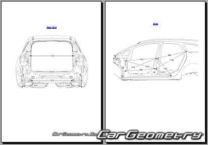 Размеры кузова Опель Астра J SW 2010–2015, Геометрия Opel