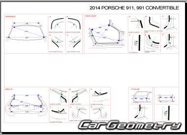 Геометрия Porsche 911 Carrera Cabriolet (991) 2013–2018