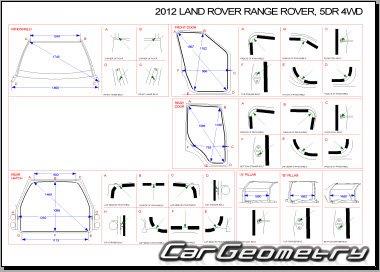 Кузовные размеры Land Rover Range Rover III 2003-2013