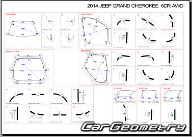 Кузовные размеры Jeep Grand Cherokee (WK2) 2011-2016