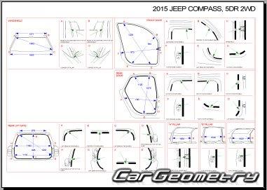 Jeep Compass (MK) 2007-2017 Body dimensions