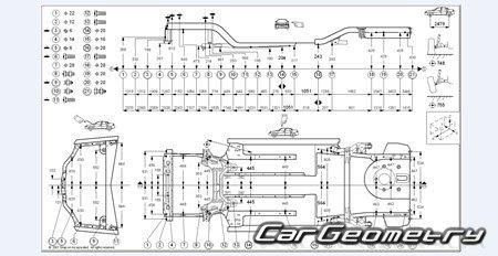 Размеры кузова Chevrolet AVEO (T200) 2003-2008 Body Repair