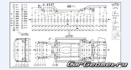 Размеры кузова Kia Magentis / Kia Optima 2005-2008 кузов MG